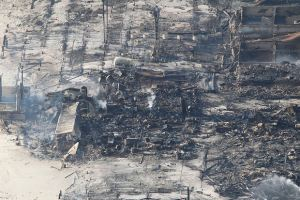 Seaside, New Jersey - Aftermath of Conflagration Aerial Photo by Andrew Mills - Star Ledger From photosnj.com