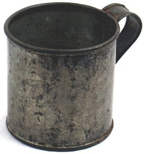 Civil War Tin Cup Photo from liveauctioneers.com