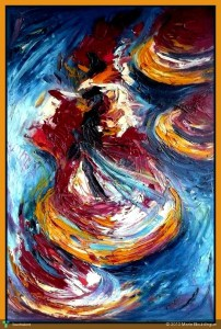 """""""Whirling Dervishes"""" Painting  by Marie Bouldingue From touchtalent.com"""